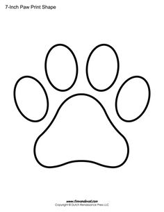 Printable paw print templates for all your animal-themed / pet-themed arts and crafts. Choose from many sizes of paw print shapes. Shape Templates, Applique Templates, Print Templates, Printable Shapes, Templates Printable Free, Free Printables, Tiffany Kunst, Paw Print Art, Paw Prints
