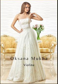 Oksana Mukha Oksana Mukha, 2014 and earlier Violina White Corset, Lace Applique, Beautiful Gowns, Bridal Collection, Designer Dresses, One Shoulder Wedding Dress, Lace Dress, Tulle, Feminine
