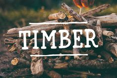 Timber Font by Mark van Leeuwen on Creative Market