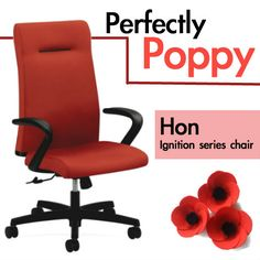 Punch color into your spring with Poppy. Eco friendly chair from Hon. http://www.shoplet.com/HON-Ignition-Seating-Series-High-back-Poppy-Chair/HONIE102CU42/spdv