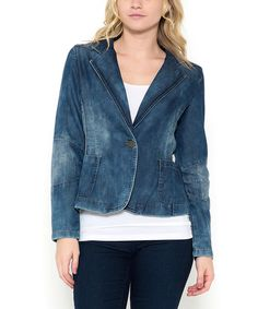 Another great find on #zulily! Denim Crop Blazer #zulilyfinds