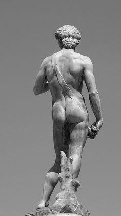 David – by Michelangelo Buonarroti Michelangelo, Renaissance Kunst, High Renaissance, Pierre Auguste Renoir, Caravaggio, Statues, Art Ninja, Western Art, Oeuvre D'art