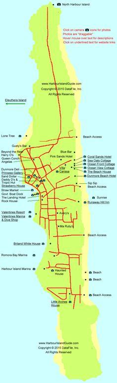 Harbour Island Map - Harbor Island Bahamas