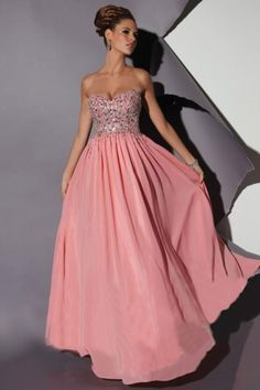 A-Linie Herz-Ausschnitt Bodenlang Chiffon Kleid - $129.99