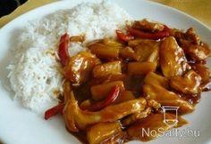 Édes-savanyú csirkemell Meat Recipes, Asian Recipes, Chicken Recipes, Dinner Recipes, Ethnic Recipes, Meat Meals, Sashimi, Tapas, Chef Gordon Ramsay