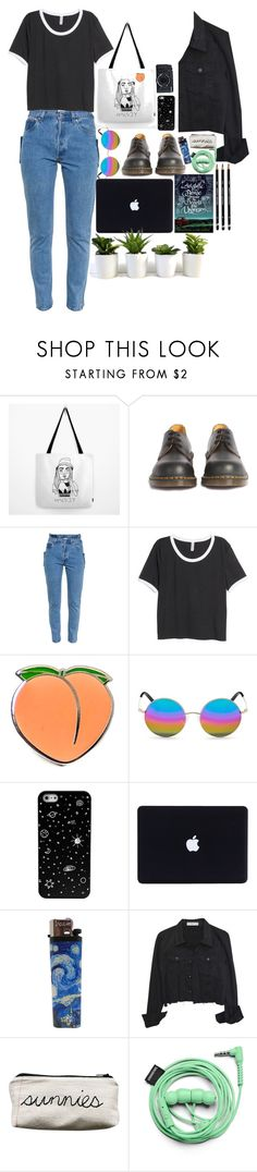 """""""who is in control?"""" by starscounter394 ❤ liked on Polyvore featuring Dr. Martens, Vetements, H&M, PINTRILL, Matthew Williamson, Fujifilm, Urbanears, StreetStyle, indie and grunge"""