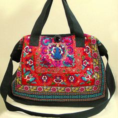 Hand Made bag/ Embroidery Tote Bag/Obliquely across the bag/Casual bags/Fashion bag/Dual-purpose bag/Shop tote bag/Women bag/Canvas bag Bags Online Shopping, Online Bags, Shopping Bag, Look Boho, Embroidered Bag, Casual Bags, Handmade Bags, Fashion Bags, Bago
