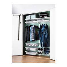 ALGOT Riel susp/baldas/barra  - Sistema para as divións dos armarios: barato, adaptable e permite cambiar a distribución interior cando queiras!