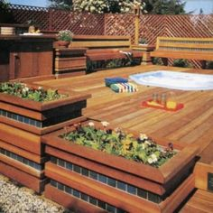 Above Ground Pool Deck.Build A Deck. Above Ground Pool Landscaping, Above Ground Pool Decks, In Ground Pools, Wood Deck Designs, Pergola Designs, Wood Decks, Pool Designs, Pool Landscape Design, Terrace Design