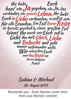 Heart from words - personalized picture for wedding Herz aus Worten – personalisiertes Bild zur Hochzeit Weiß Heart from words – personalized picture for wedding white - The Words, Short Article, White Picture, Engagement Ring Cuts, Personalized Wedding, Projects To Try, Marriage, Positivity, Blog