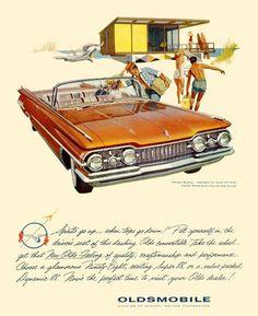Oldsmobile 1959 Beach Spirits Go Up - Mad Men Art: The 1891-1970 Vintage Advertisement Art Collection