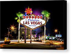 Las Vegas Canvas Print featuring the photograph Las Vegas Sign by Az Jackson