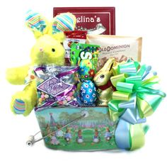 The kids will love this easter gift basket loaded with bunnies and family easter gift basket httpboodlesofbasketswordpressgift negle Choice Image