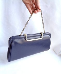 Classic Navy Leather Top Handle Convertible by ThatchandSloane