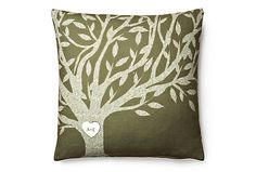 One Kings Lane - Personalize It - Beholden 18x18 Pillow, Green