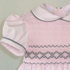 Southern Matriarch: A Little European Flair Smocking Baby, Smocking Plates, Smocking Patterns, Baby Patterns, Smocked Baby Clothes, Girls Smocked Dresses, Baby Girl Frocks, Frocks For Girls, Little Girl Outfits