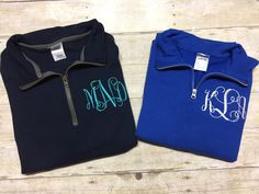 A personal favorite from my Etsy shop https://www.etsy.com/listing/492866972/personalized-monogrammed-quarter-zip