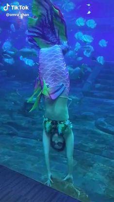 Mermaid Videos, Mermaid Gifs, Mermaid Names, Mermaid Song, Real Life Mermaids, Mermaids And Mermen, Fantasy Creatures, Mythical Creatures, Realistic Mermaid