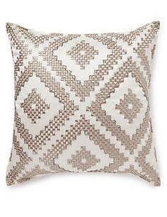 Natural Mix Embroidered Diamond Cushion