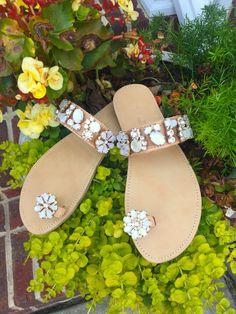 "Handmade Greek Sandals, Boho Sandals, Genuine leather sandals, toe loop sandals, Gladiator sandals, Women's sandals, "" The Diana"""