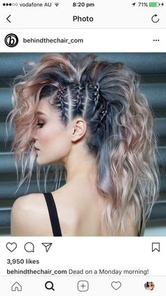 45 gorgeous side braids with high ponytails in 2018 braids gorgeous high ponytails side 27 elegant side braid ideas to style your long hair Fast Hairstyles, Pretty Hairstyles, Hairstyles Pictures, Braided Mohawk Hairstyles, Funky Hairstyles For Long Hair, Updo Hairstyle, Unique Hairstyles, Hairstyle Ideas, Concert Hairstyles