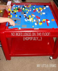 DIY Lego table from an old coffee or end table