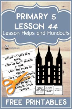 I love this site- such great resources for teaching Doctrine and Covenants. This one is for LDS Primary 5 Lesson 44: The Salt Lake Temple is Constructed and Dedicated.