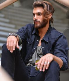 "Can Divit : ""Erkenci Kus""/Early Bird Turkish Men, Turkish Actors, Beautiful Men Faces, Gorgeous Men, Alex Gonzalez Actor, Kim Jisoo Actor, Silence Is Better, Hot Actors, Moustaches"
