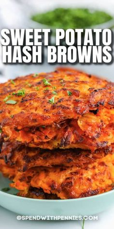 Sweet potato hash browns are a delicious breakfast treat the whole family will love! Try them cooked up with eggs or make them into sweet potato waffles! #spendwithpennies #sweetpotatohashbrowns #breakfast #recipe #healthy #paleo #crispy #easy #homemade #best