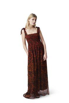 Beaumont Chiffon Dress, Brandy Brown, hi-res