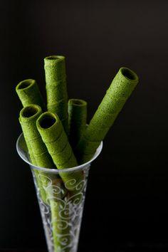 Japanese matcha roll sticks