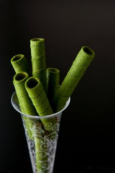 Japanese matcha roll sticks
