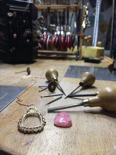 Mnojewelry  MNO sadekar tasarim atölyesi  Pink opal