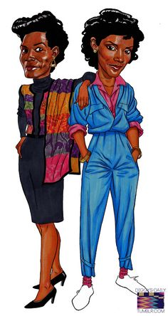 TV Moms - Fresh Prince of Bel Air Aunt Bob and The Cosby Show's Clair Huxtable Black Girl Art, Black Women Art, Black Girls Rock, Black Girl Magic, Art Girl, Black Cartoon, Cartoon Art, Cartoon Characters, African American Art
