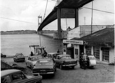 https://flic.kr/p/CAquM1 | 1966 Severn ferry | Before the M4 Severn Bridge was built, there was no road crossing of the Severn south of Gloucester, meaning that traffic between South Wales and southern England had to drive the A40, far out of its way to the north and frequently congested at Gloucester, or go via Bristol and Chepstow, choosing between the Severn ferry or the railway tunnel. The train and boat options were not particularly well used, but the bridge certainly is today, which…