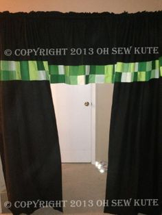 Unofficial Minecraft Inspired Curtains/Valances Available in any window size. on Etsy, $50.00