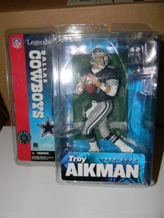 NFL McFarlane Football Dallas Cowboys Troy Aikman Blue Jersey NRFB