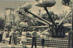 Vidámpark, repülő hinta Budapest, Retro Vintage, The Past, History, Archive, Photography, Historia, Photograph, Fotografie