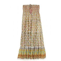 Podera Block Printed Silk Skirt | Calypso St. Barth