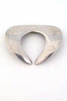 Georg Jensen, Denmark - vintage modernist silver brooch #366 by Nanna Ditzel