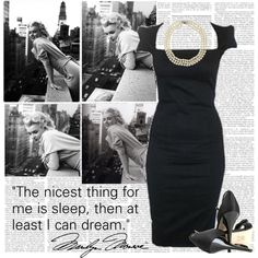 Marilyn Monroe, created by marianna-vintage on Polyvore