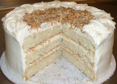Italian Creme Cake (sugar free recipe also)   Recipe Binder