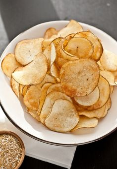 homemade chips! I am so making these... Grandma's house with uncle roy and uncle don... YUM!