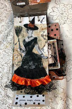 Vintage Witches Art Book by fleamarketstudio, via Flickr