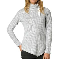 A cozy and stylish pullover perfect for four-season casual wear, the Prana Mattea Women's Sweater is made from a moisture-wicking, breathable, and soft blend of recycled wool and synthetic fibers to keep you feeling wonderful and looking great. Its relaxed fit is complemented by comfortable and mobile raglan sleeves, while the mock neck has a ribbon cinch and the body exposed seams to add some visual interest and flattering shape, respectively. The asymmetrical hem gives the Mattea a…