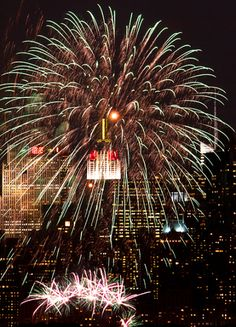 NYC. Fireworks at Central Park // by Inga Sarda Sorensen