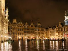 Grand Platz in Brussels at night. I've visited the city for more times. Old and new. Diversity. The Capital and a village. Chocolate. Ciders.