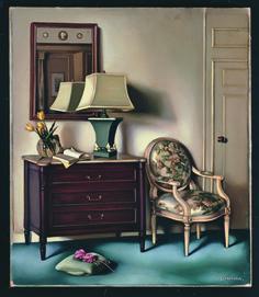 """Tamara de Lempicka (1898-1980) - """"Chambre d'hotel"""", c. 1951 - Oil on canvas (Private collection)"""