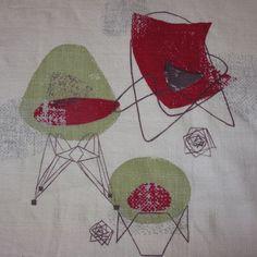 barkcloth | Dali Designed Barkcloth Fabric Curtains | Then Again