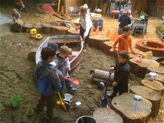 How to Set Up Natural Play Spaces in Your Back Yard – Modern Parents Messy Kids – natural playground ideas Outdoor Learning Spaces, Kids Outdoor Play, Outdoor Play Areas, Kids Play Area, Outdoor Playground, Outdoor Fun, Children Play, Playground Ideas, Kids Play Spaces